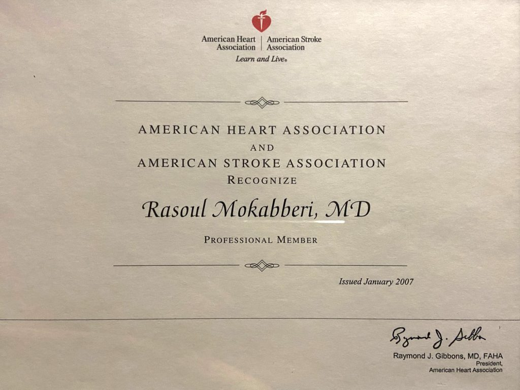 Dr. Rasoul Mokabberi Cardiology Center clinic in Orange County